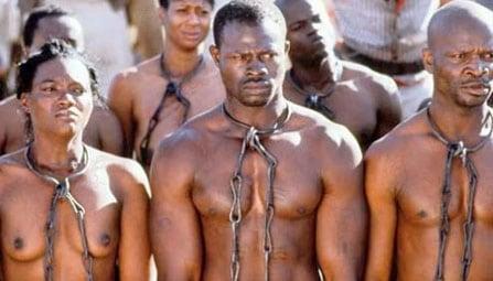 Afrikaanse slaven in de film Amistad van Steven Spielberg