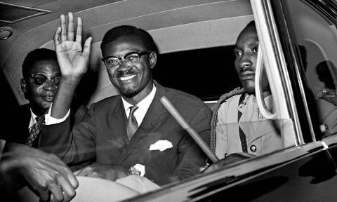 Emery Patrice Lumumba, de eerste democratisch gekozen premier van het onafhankelijke Democratisch Republiek Congo
