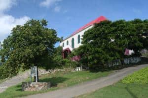 Een kerk in Coral Bay te St. John, een van de Maagdeneilanden