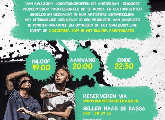 Swazoom Live op 2 december 2017 in het Bijlmer Parktheater