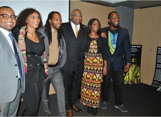 LBOSCAAN bestuur van links naar rechts: Kevin Mendeszoon (secretaris-generaal), Adinda de Vries (bestuursvoorzitter), Ptah Ankh Re (penningmeester) en verder Iwan Leeuwin, Sirelda Jackson en Simão Miguel (algemeen bestuursleden).