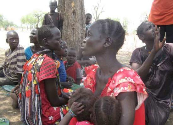 Gevluchte vrouwen en kinderen in de Maban County in Zuid Soedan. Foto: UNHCR/P. Rulashe